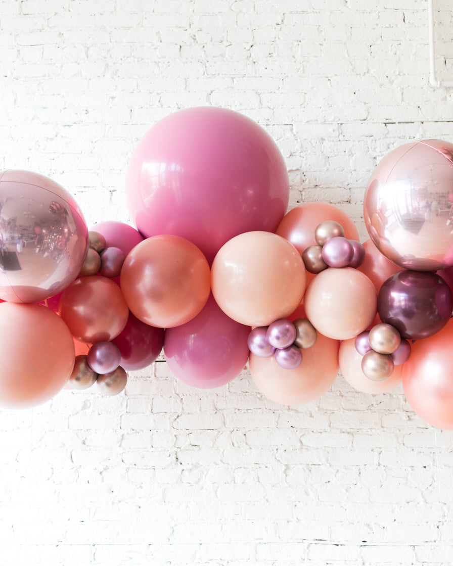 Berry Blush - Floating Balloon Arch - 5ft