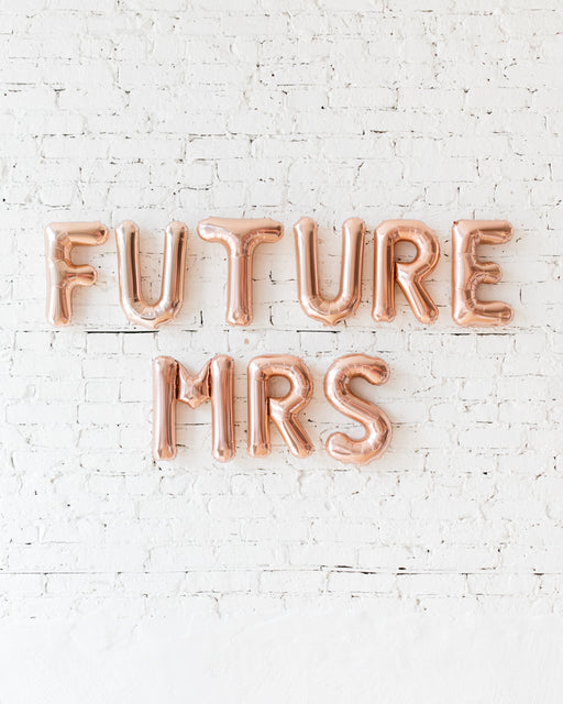 16in Rose Gold FUTURE MRS Foil Balloon Set