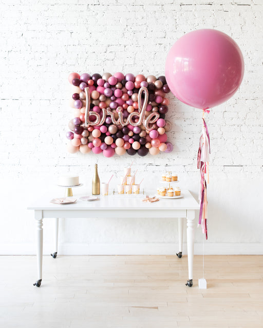 Berry Blush - BRIDE Backdrop & Giant Balloon Set