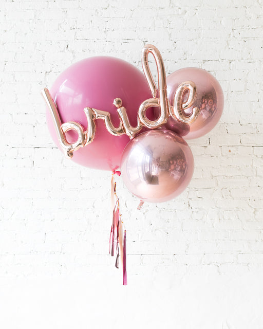 Berry Blush - Giant Bride Bouquet with Half-Tassel