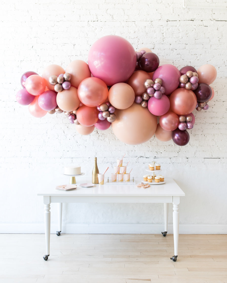 Berry Blush - Backdrop Balloon Garland Install Piece - 6ft