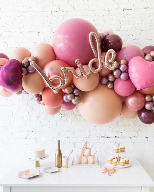 Berry Blush - BRIDE Backdrop Balloon Garland Install Piece