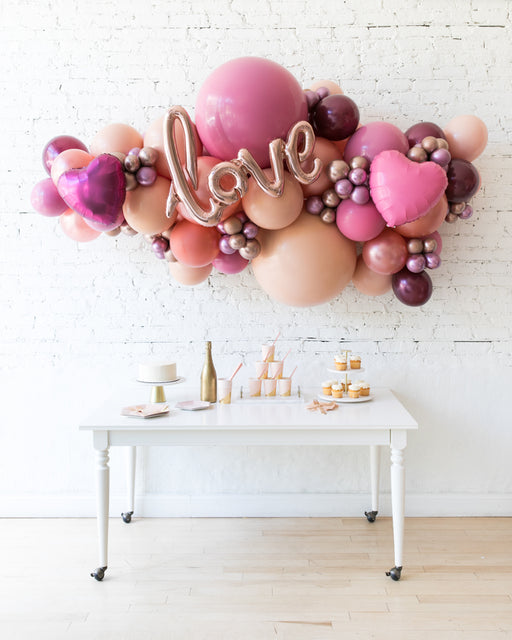 Berry Blush - LOVE Backdrop Balloon Garland Install Piece
