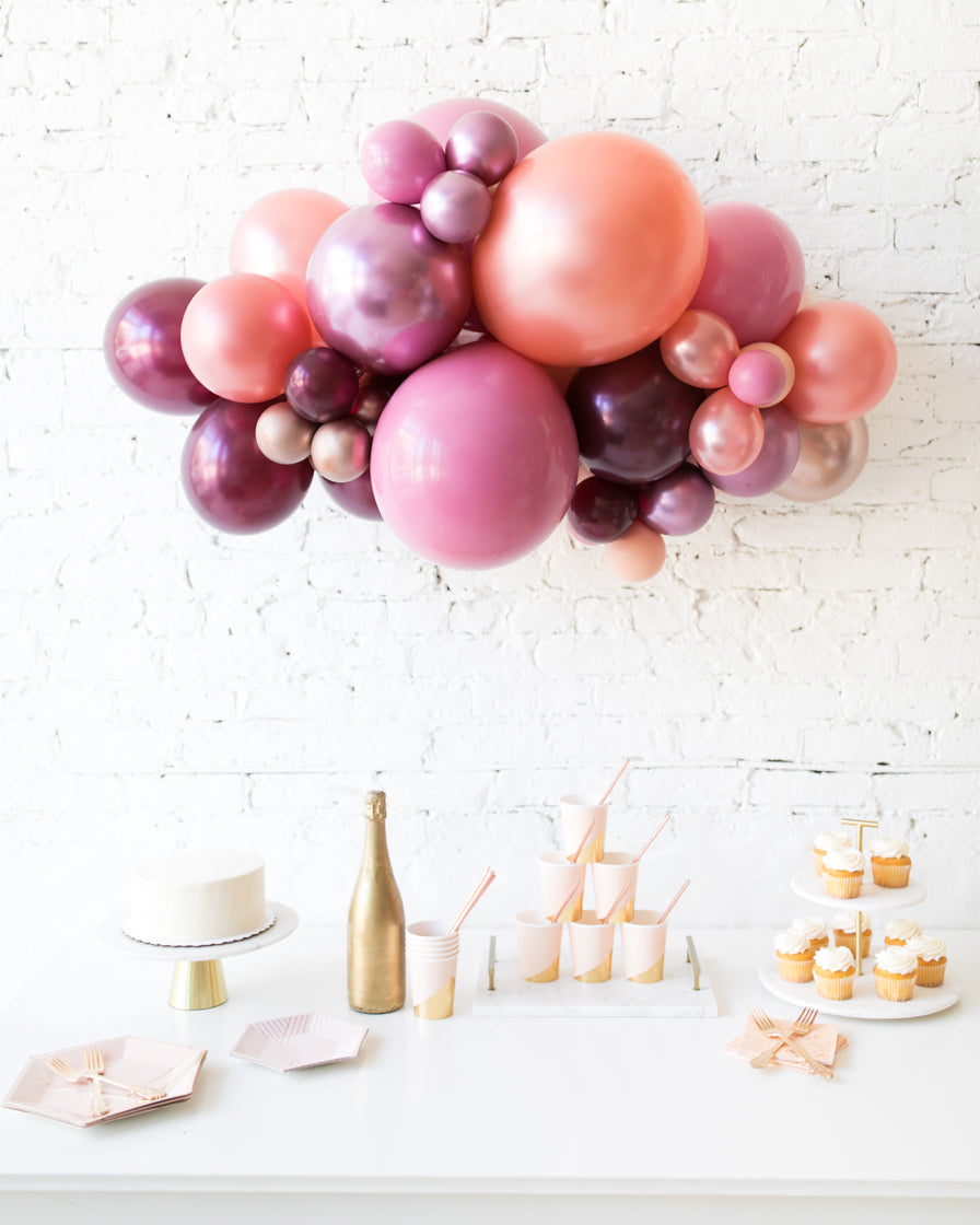 Berry Blush - Backdrop Balloon Garland Install Piece - 3ft