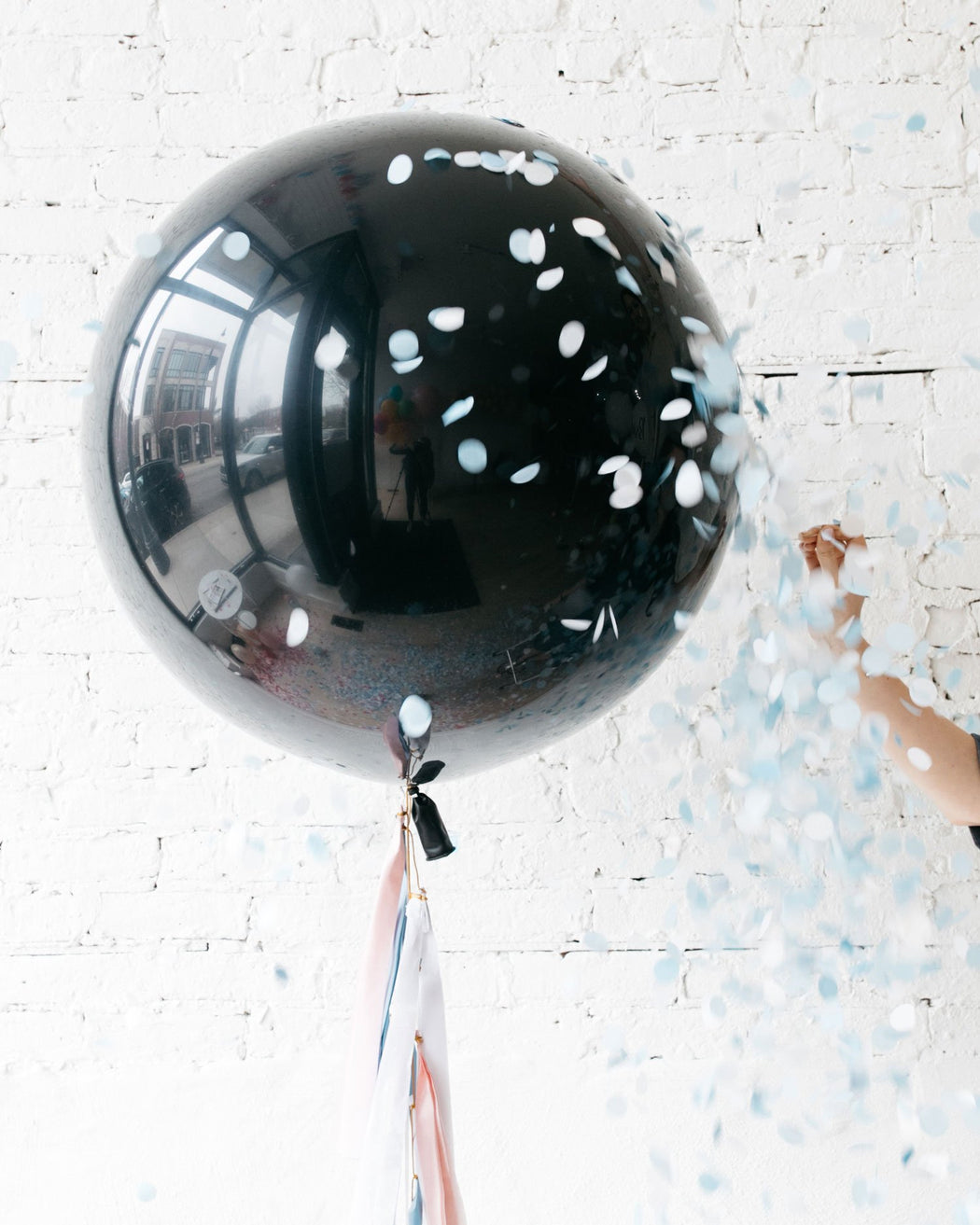 Gender Reveal - POPPING Giant Balloon with Tassel