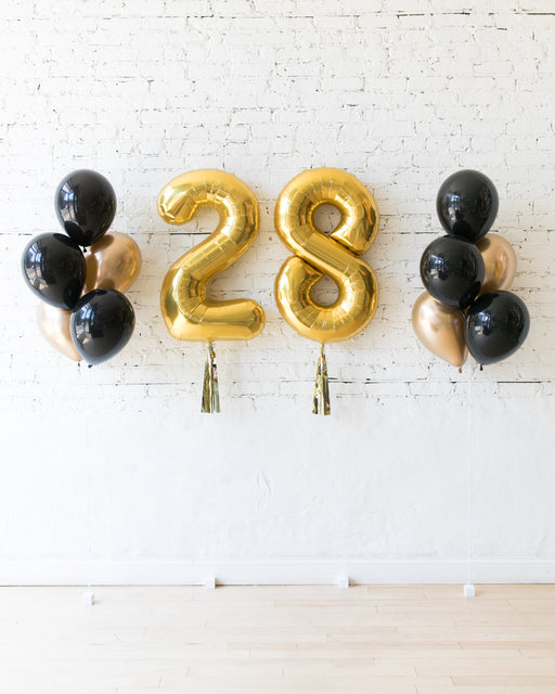 Couture - Numbers & 11in Balloon Bouquets Set