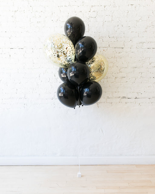 Couture - Confetti and 11in Balloons - bouquet of 10