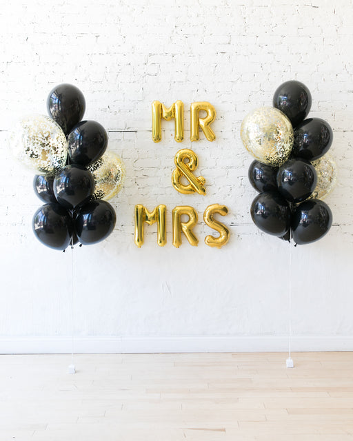 Couture - Letters & Confetti Balloon Bouquets Set