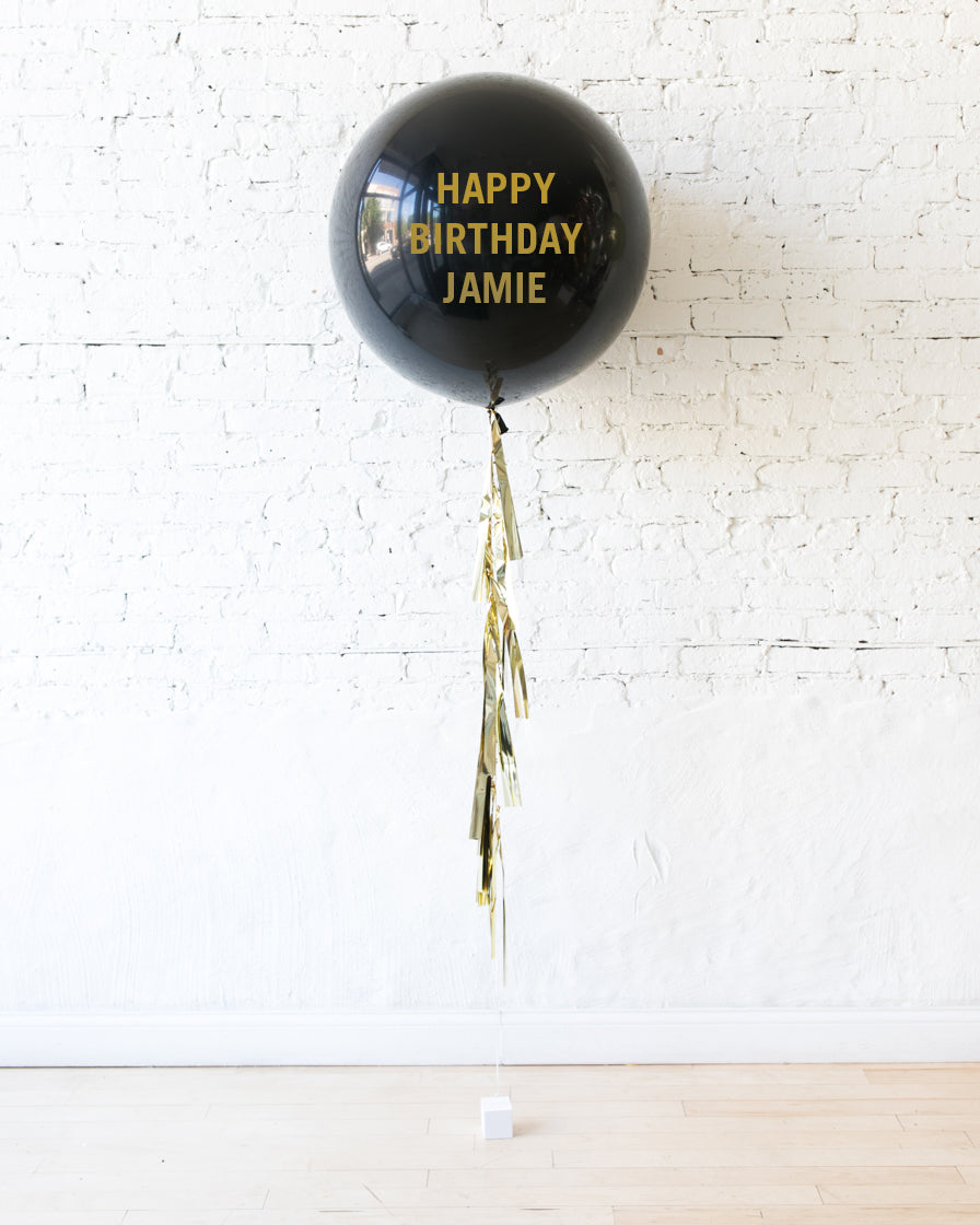 Couture - Personalized Happy Birthday Balloon with Tassel