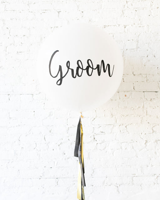 Couture - GROOM Giant Balloon with Tassel
