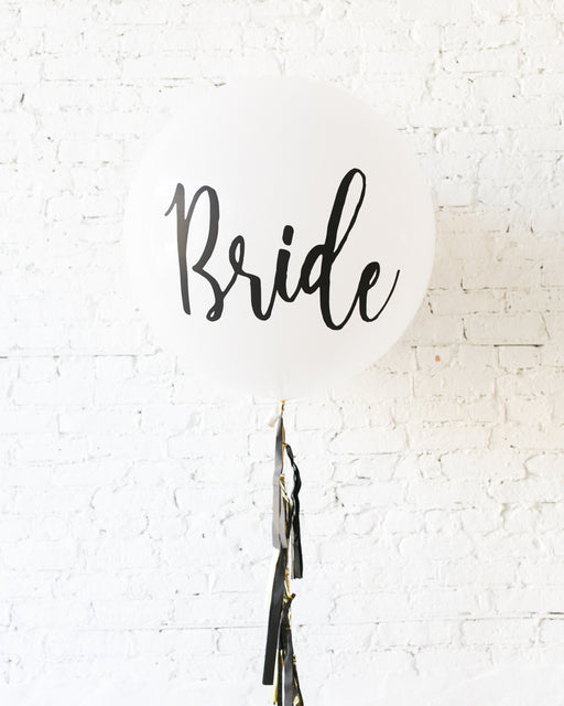 Couture - BRIDE Giant Balloon with Tassel