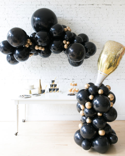 Couture - Floating Balloon Arch & Champagne Column Set