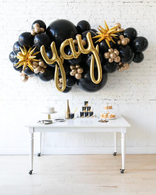 Couture - Yay Script Backdrop Balloon Garland Install Piece - 6ft