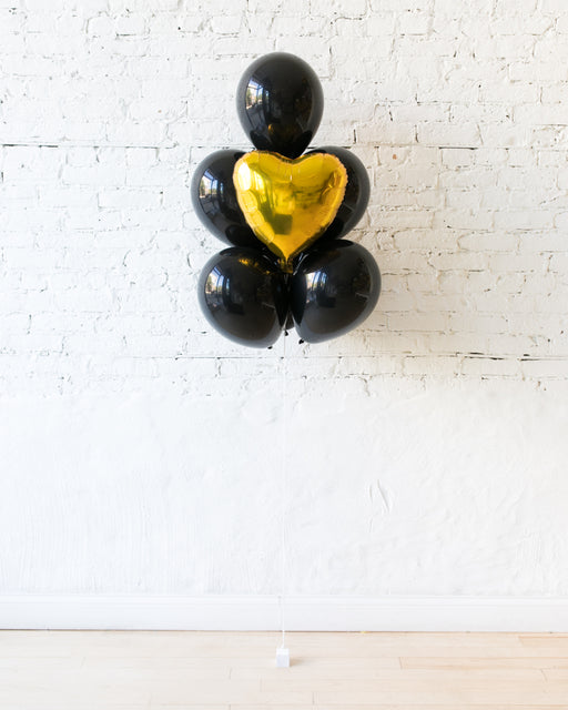 Couture - Heart Foil and 11in Balloons - bouquet of 7
