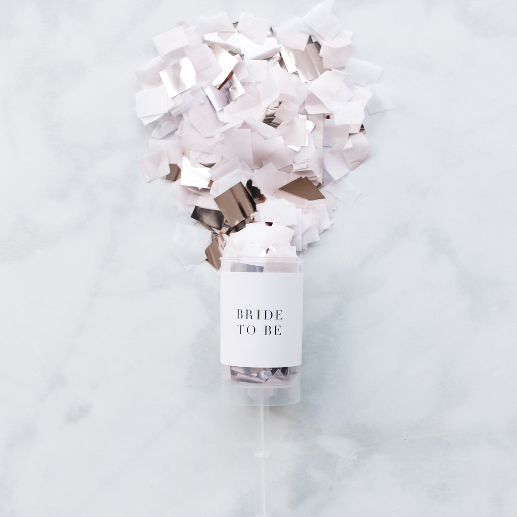 Bride To Be Confetti Popper
