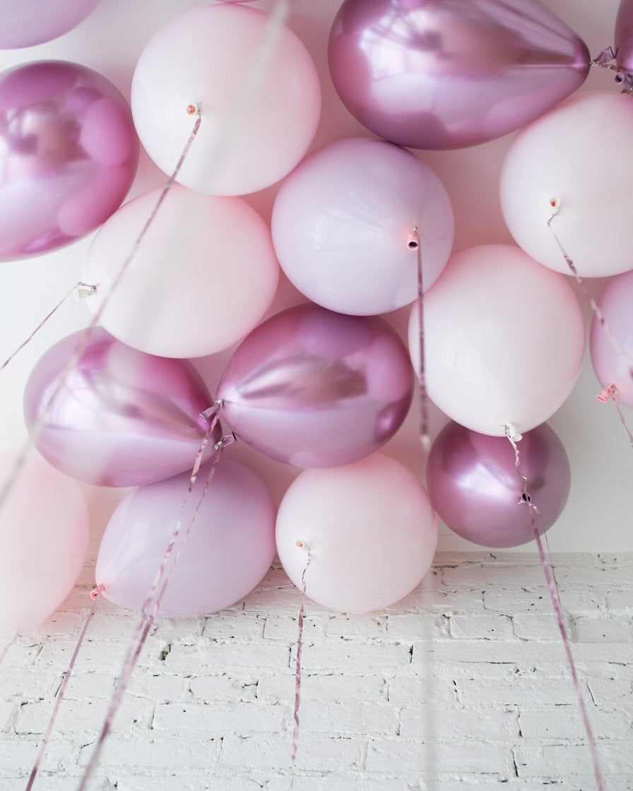 GIFT-Shades of Mauve Palette 11in Ceiling Balloons - set of 25