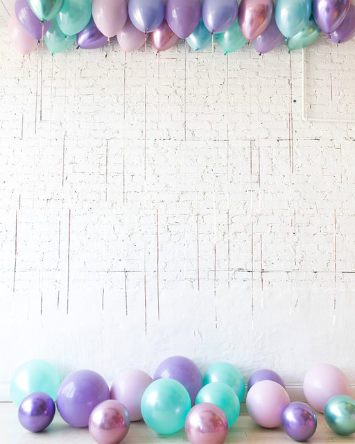 GIFT-Mermaid Theme Ceiling and Floor Balloon Set