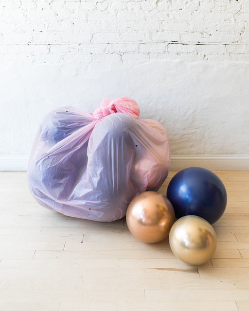 Gold, Navy and Copper Palette Floor Balloons - 15 counts