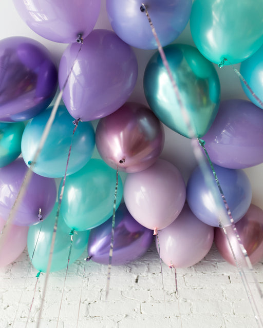 Mermaid Theme 11in Ceiling Balloons - set of 25