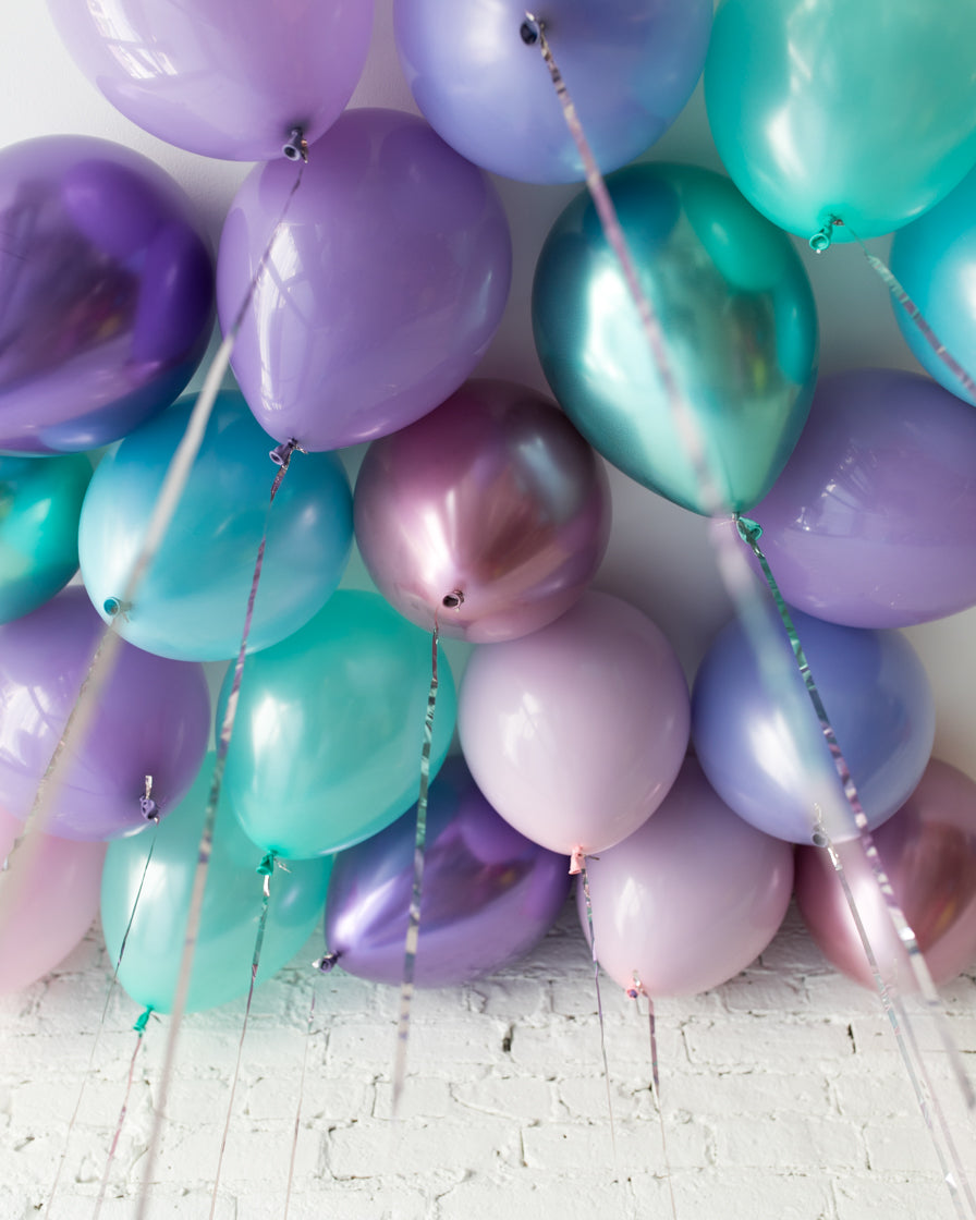 GIFT-Mermaid Theme 11in Ceiling Balloons - set of 25