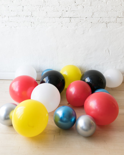 GIFT-Superhero Theme Floor Balloons - set of 15