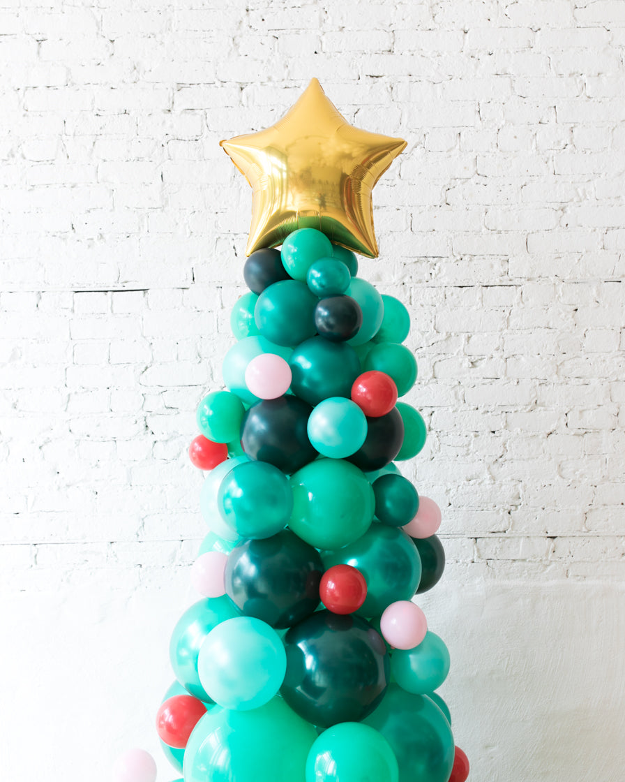 Holiday Theme - Classic Balloon Christmas Tree - 6ft