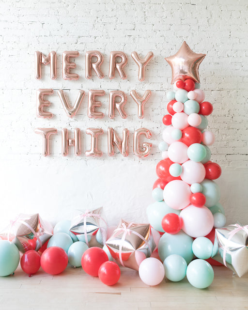 Holiday Theme - Letters, Balloon Tree and Floor Balloons Set