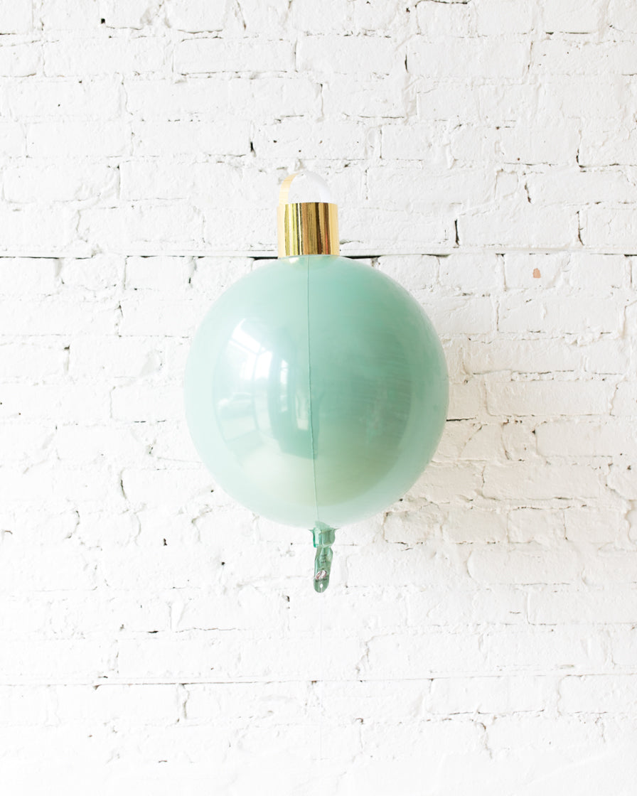 16in Mint Ornament Foil Balloon