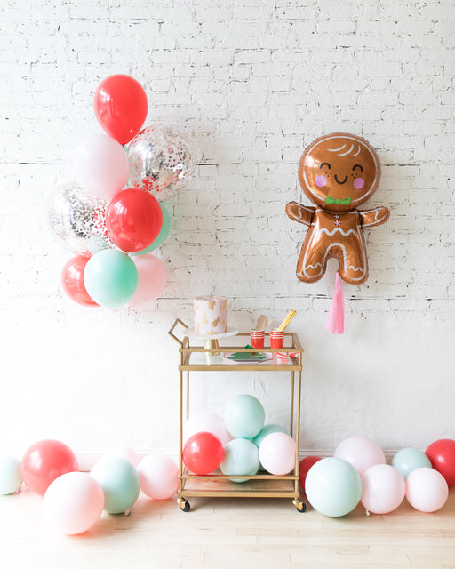 Holiday Theme - Foil Balloon, Confetti Bouquet and Floor Balloon Set