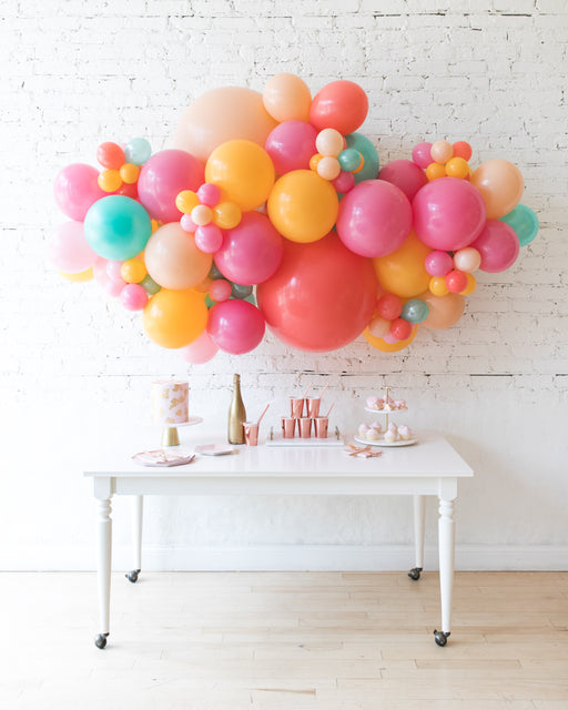 Colorful Bloom - Backdrop Balloon Garland Install Piece