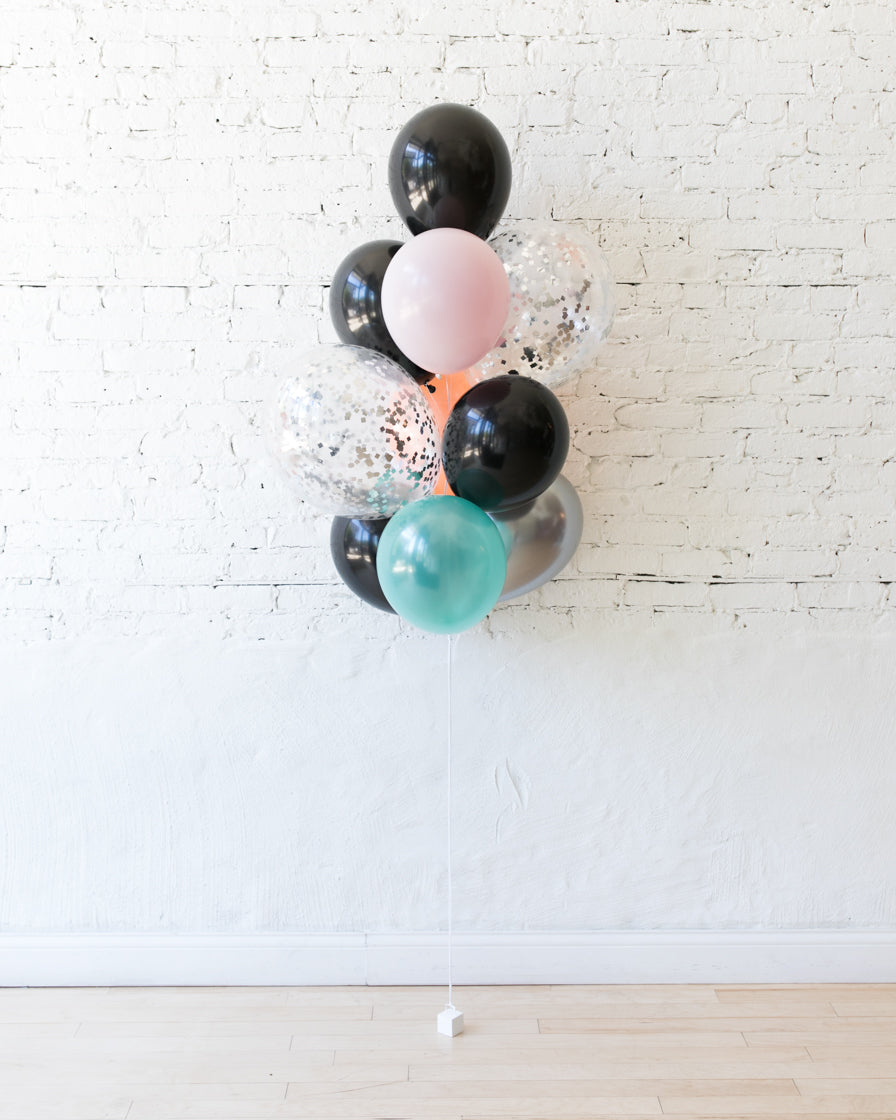Halloween Theme - Confetti and 11in Balloons - bouquet of 10