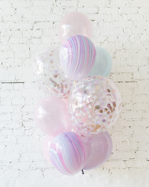 GIFT-Unicorn Theme Foil Balloons - bouquet of 10