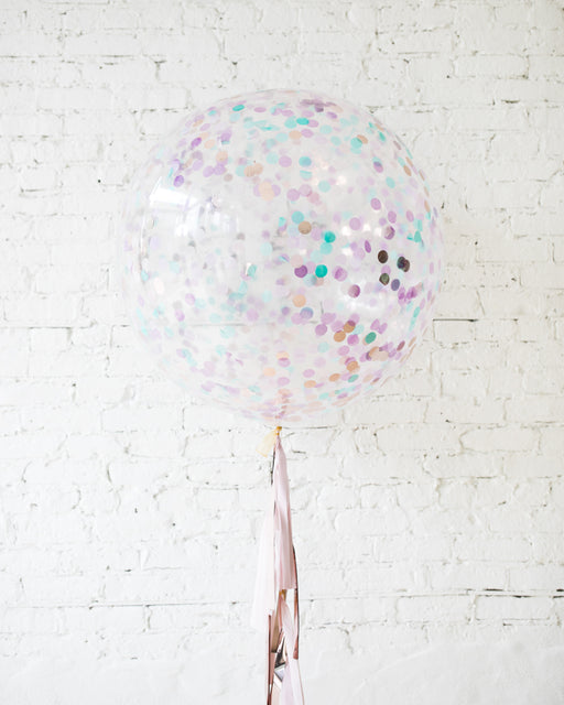 Mermaid Theme Confetti Giant Balloon and Tassel