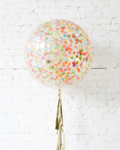 Fiesta Theme - Confetti Giant Balloon with Tassel