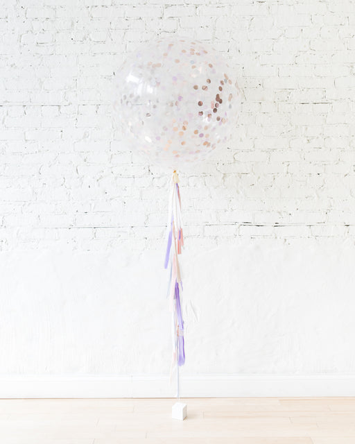 Unicorn Theme Confetti Giant Balloon and  Tassel
