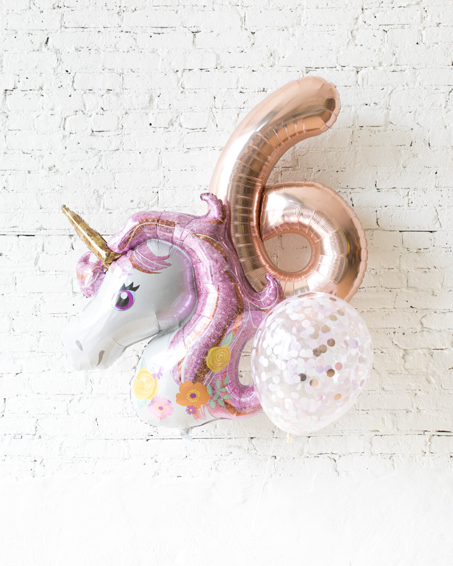 GIFT-Unicorn Theme Number Birthday Bouquet