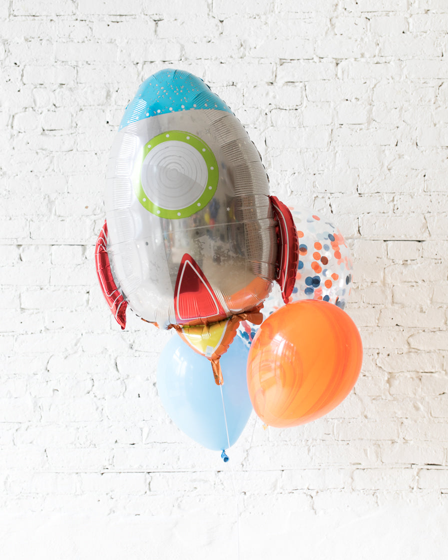 GIFT-Rocket Ship Balloon Bouquet