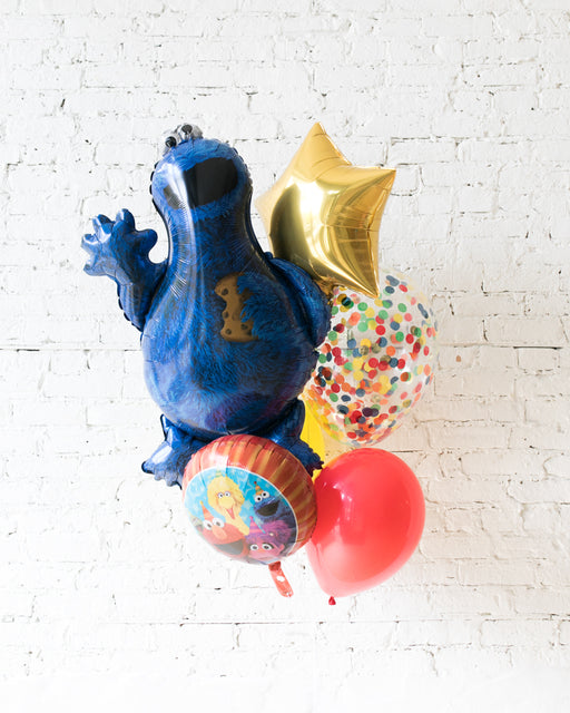 GIFT-Cookie Monster Balloon Bouquet