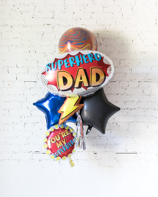 GIFT-Superhero Dad Foil Bouquet