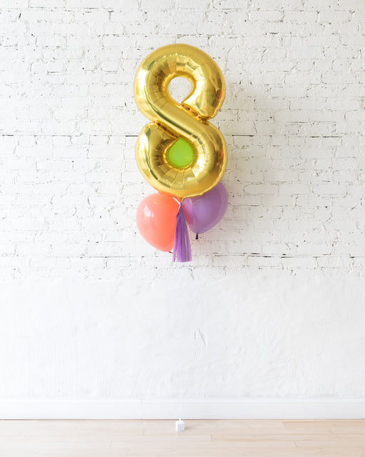 Fiesta Theme - Customizable Number and 11in Balloons - bouquet of 4