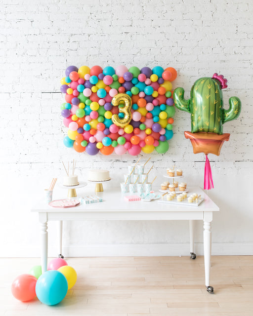 Fiesta Theme - Balloon Board & Cactus Foil Set