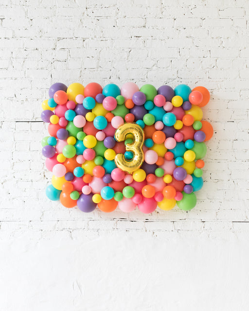 Fiesta Theme - Customizable Number Balloon Backdrop Board - 30inx40in
