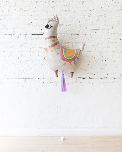 45in Llama Foil Balloon and Lilac Skirt