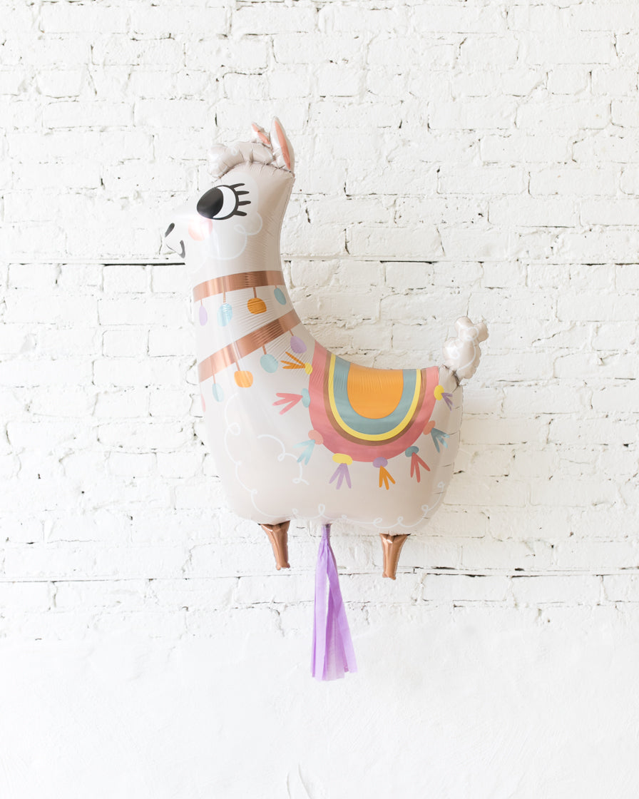 GIFT-45in Llama Foil Balloon and Lilac Skirt