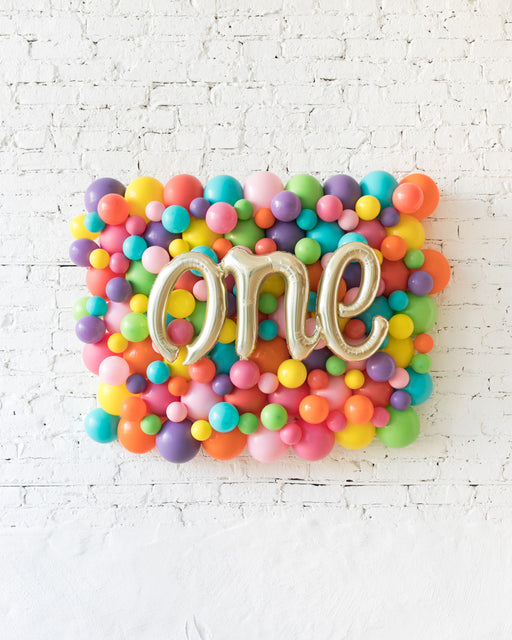 Fiesta Theme - ONE Script Balloon Backdrop Board - 30inx40in