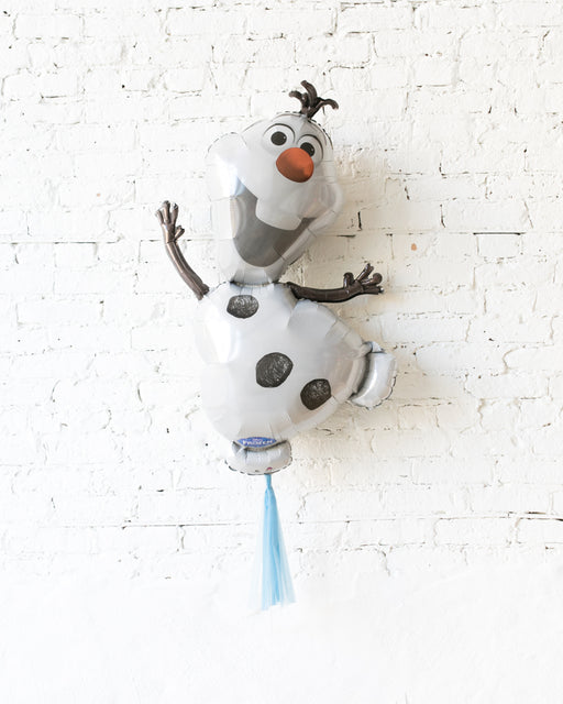 41in Olaf Foil Balloon with Blue Skirt