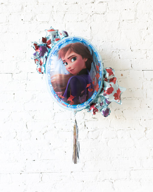 26in Elsa/Anna Double-Sided Frozen 2 Theme Foil Balloon with Silver Skirt