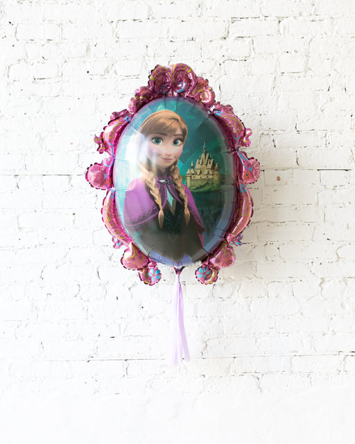 GIFT-31in Elsa/Anna Double-Sided Frozen Theme Foil Balloon with Lilac Skirt