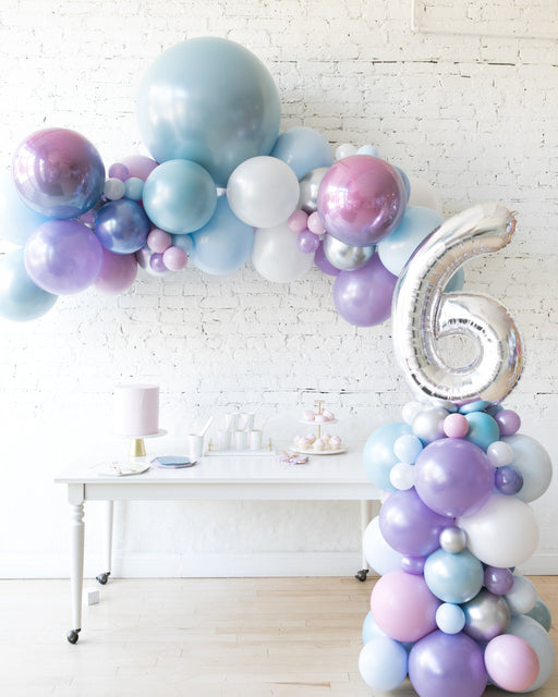 Frozen Theme - Floating Arch & Number Column Set