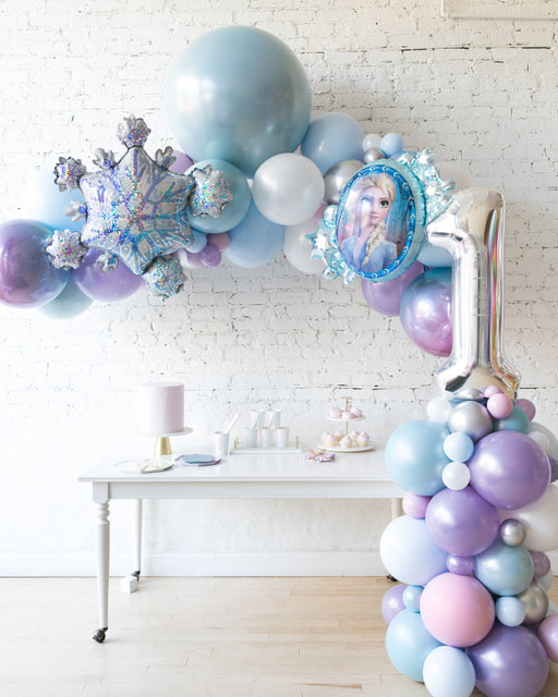 Frozen Theme - Floating Arch with Foil & Number Column Set